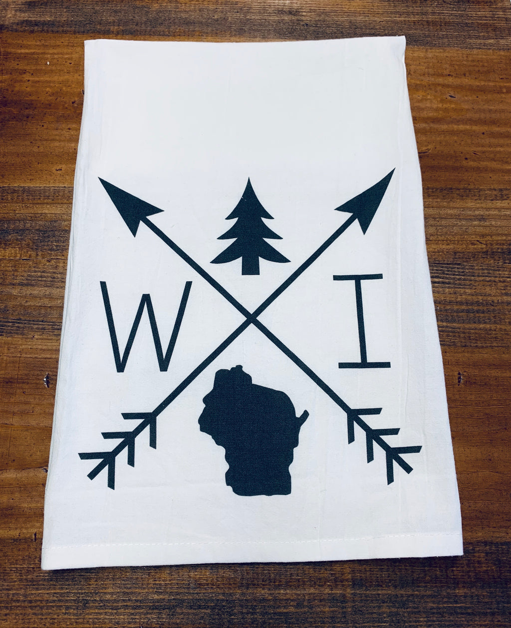 Wisconsin Arrows Dishtowel