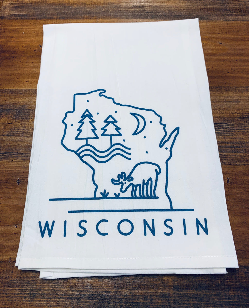 Wisconsin Deer Dishtowel
