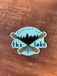 Happiest at the Lake Sticker