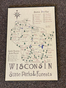Wisconsin State Park Map