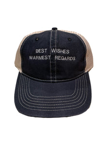 Best Wishes Warmest Regards Baseball Hat