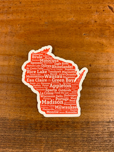 Wisconsin Cities Sticker
