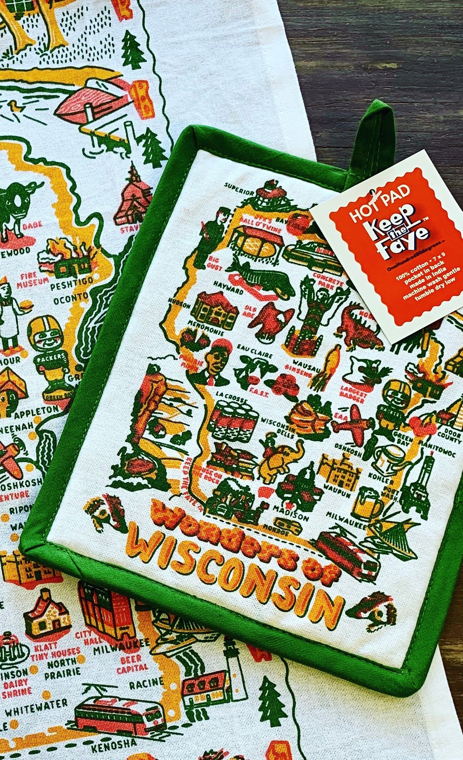 Wonders of Wisconsin Hot Pad by Keep The Faye