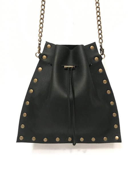 Mojo Crossbody - Black oil tanned leather