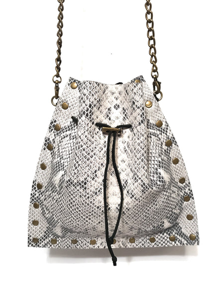 Mojo Crossbody - Snakeskin w/ Black