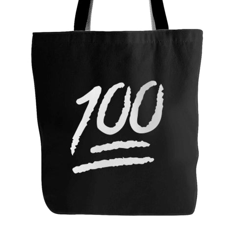 100 Emoji Christmas Funny Emoticon Tote Bag