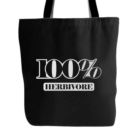 100% Herbivore Vegan Vegetarian 1 Tote Bag