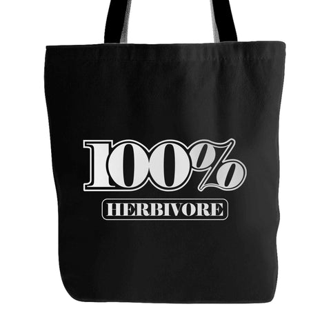 100% Herbivore Vegan Vegetarian 2 Tote Bag