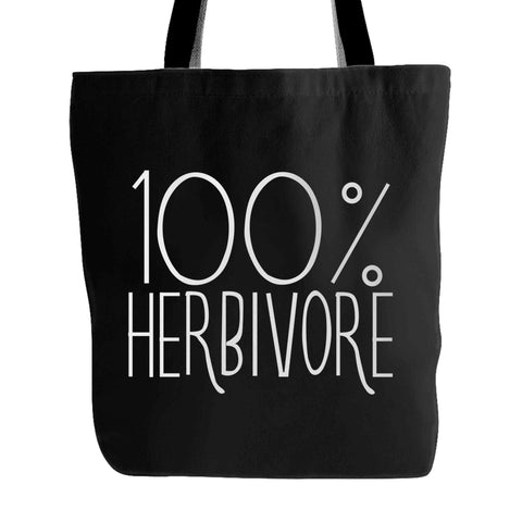 100% Herbivore Vegan Vegetarian Tote Bag