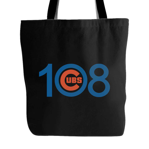 108 Cubs Win! Chicago Cubs World Series Tote Bag