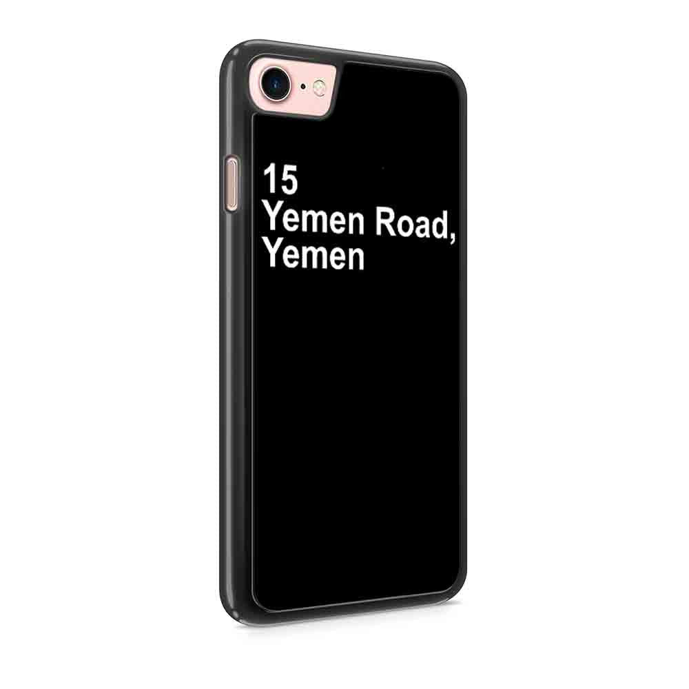 15 Yemen Road Yemen Friends Inspired Chandler Bing Funny Friends Fandom Iphone 7 / 7 Plus / 6 / 6s / 6 Plus / 6S Plus / 5 / 5S / 5C Case