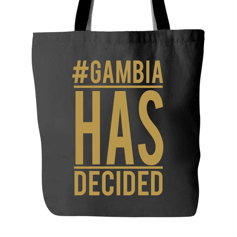 #GambiaHasDecided Tote Bag