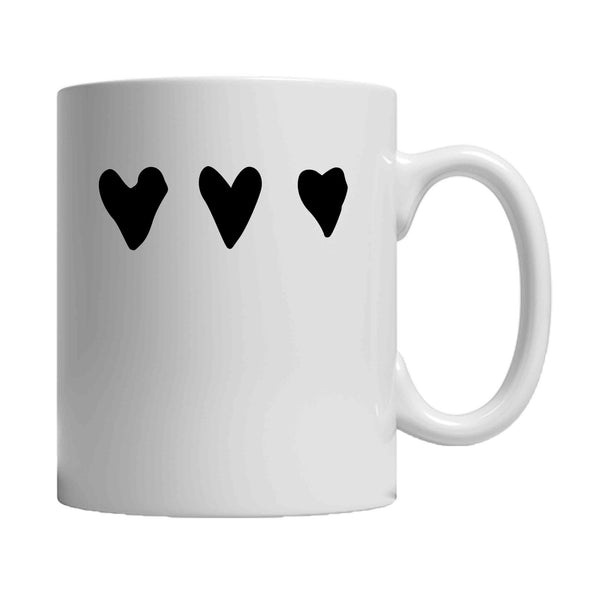 3 Hearts Love Valentines 11oz Mug