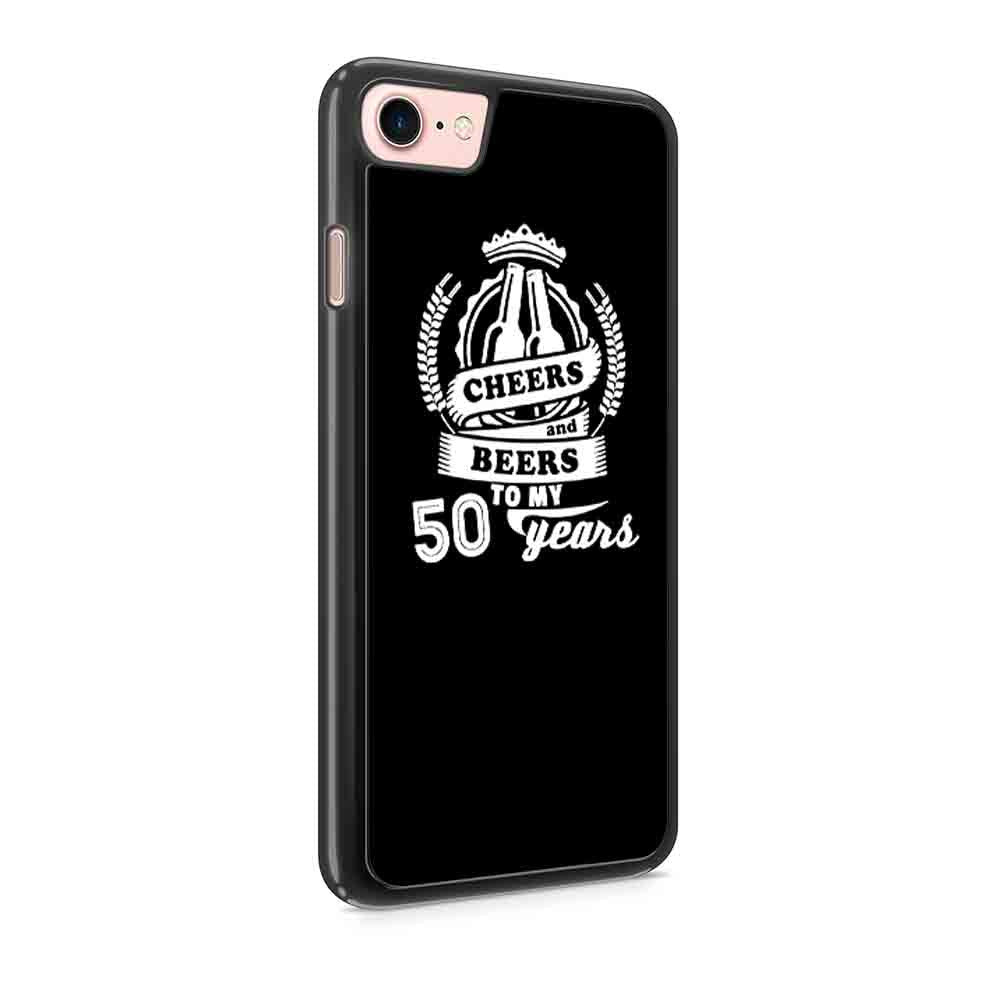 50Th Birthday Cheers And Beers 50Th Birthday Gifts 1966 50Th Birthday Beer Ideas Present For Him Her Funny Iphone 7 / 7 Plus / 6 / 6s / 6 Plus / 6S Plus / 5 / 5S / 5C Case