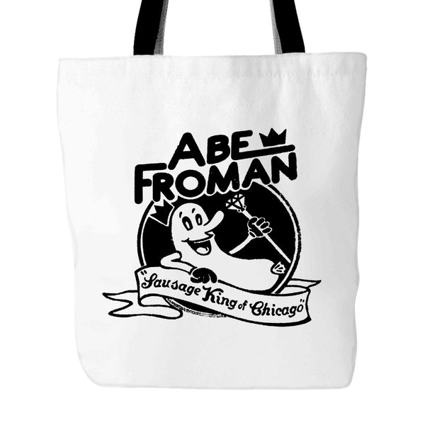 80S MOVIE Funny Funny Ferris Bueller Abe Froman Sausage King of Chicago 1 Tote Bag