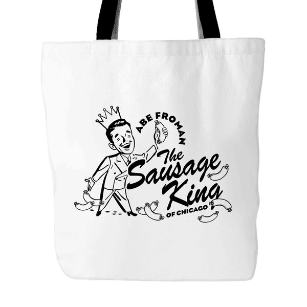 80S MOVIE Funny Funny Ferris Bueller Abe Froman Sausage King of Chicago 2 Tote Bag