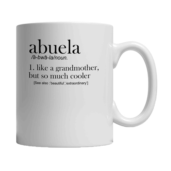 Abuela Definition Of A Grandmother Abuela New Pregnancy Reveal Announcement Mother's Day 11oz Mug