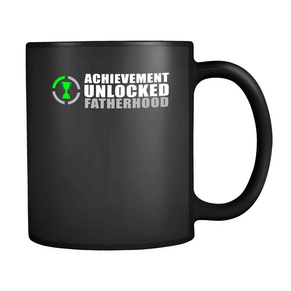 Achievement Unlocked Fatherhood Pregnant Baby New Dad Nerdy Geeky Gift For Fathers Day Nerd Funny 11oz Mug