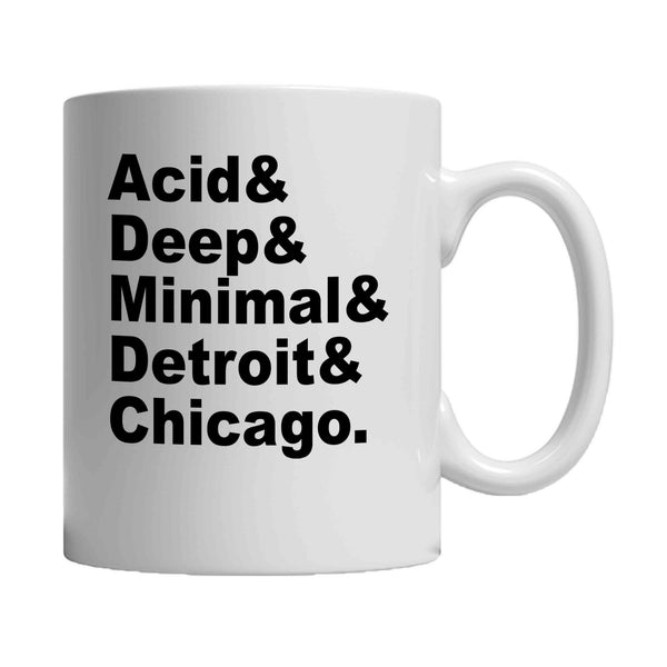 Acid Deep Minimal Detroit Chicago House Music DJ 11oz Mug