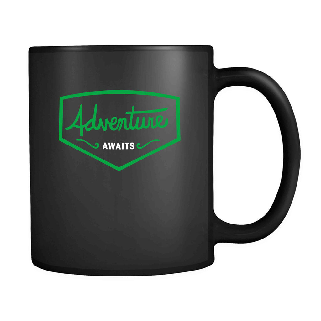 Adventure Awaits Explorer Hiking Camping Backpack Adventure Time Hipster 11oz Mug