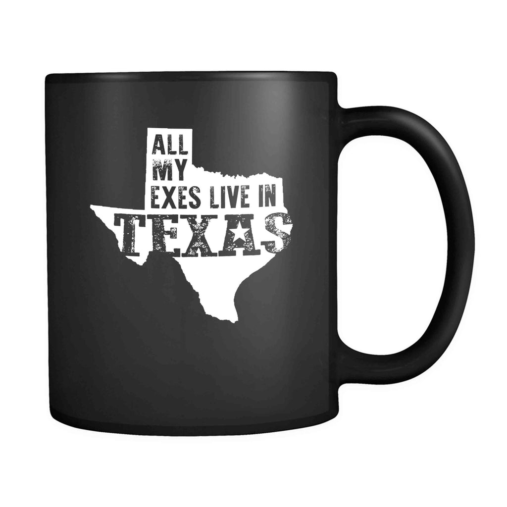 All My Exes Live In Texas George Strait Ocean Front Property Classic Country Western Cowboy Randy Travis Alan Jackson Cd Album 11oz Mug