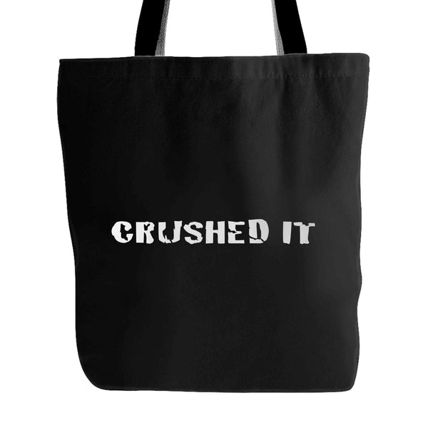 Athletic Fit Triathlon Workout CRUSHED IT Tote Bag