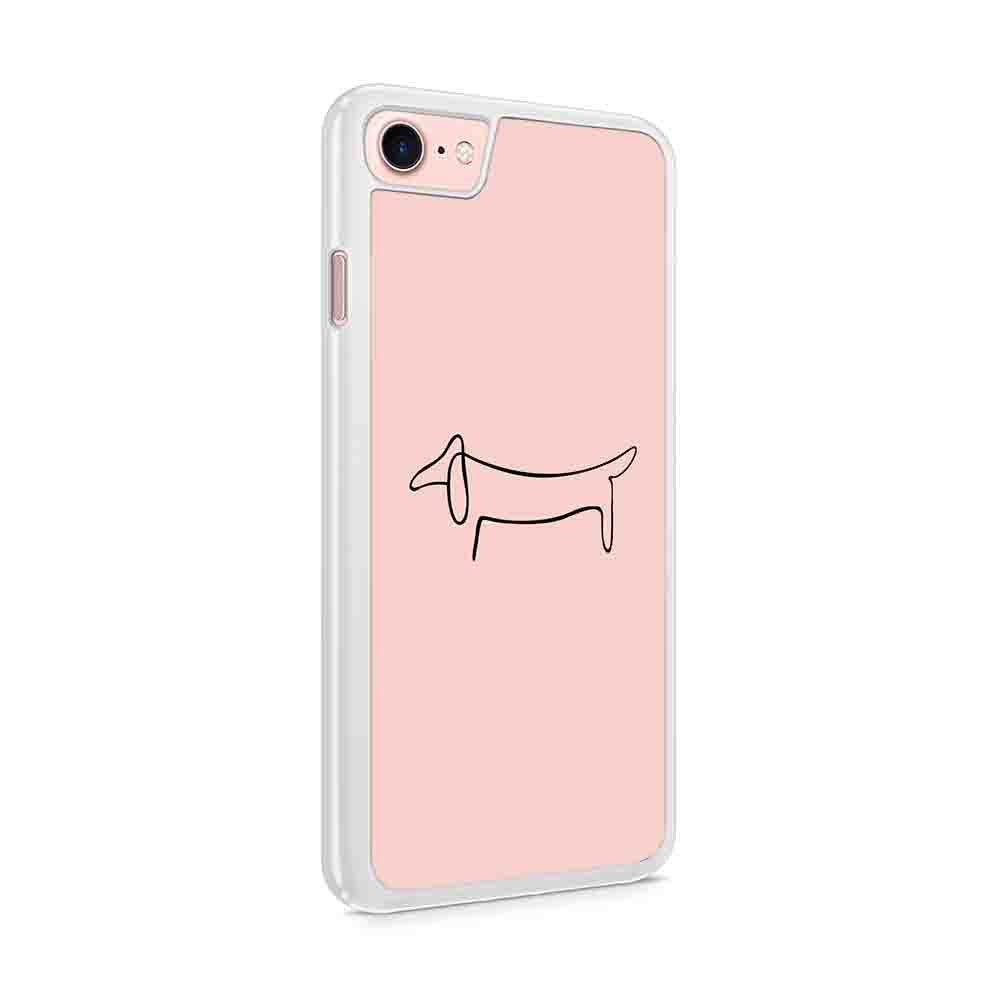 Dachshund Picasso Art Weiner Dog Pet Rescue Love Heart Adopt Puppy Iphone 7 / 6 / 5 Case