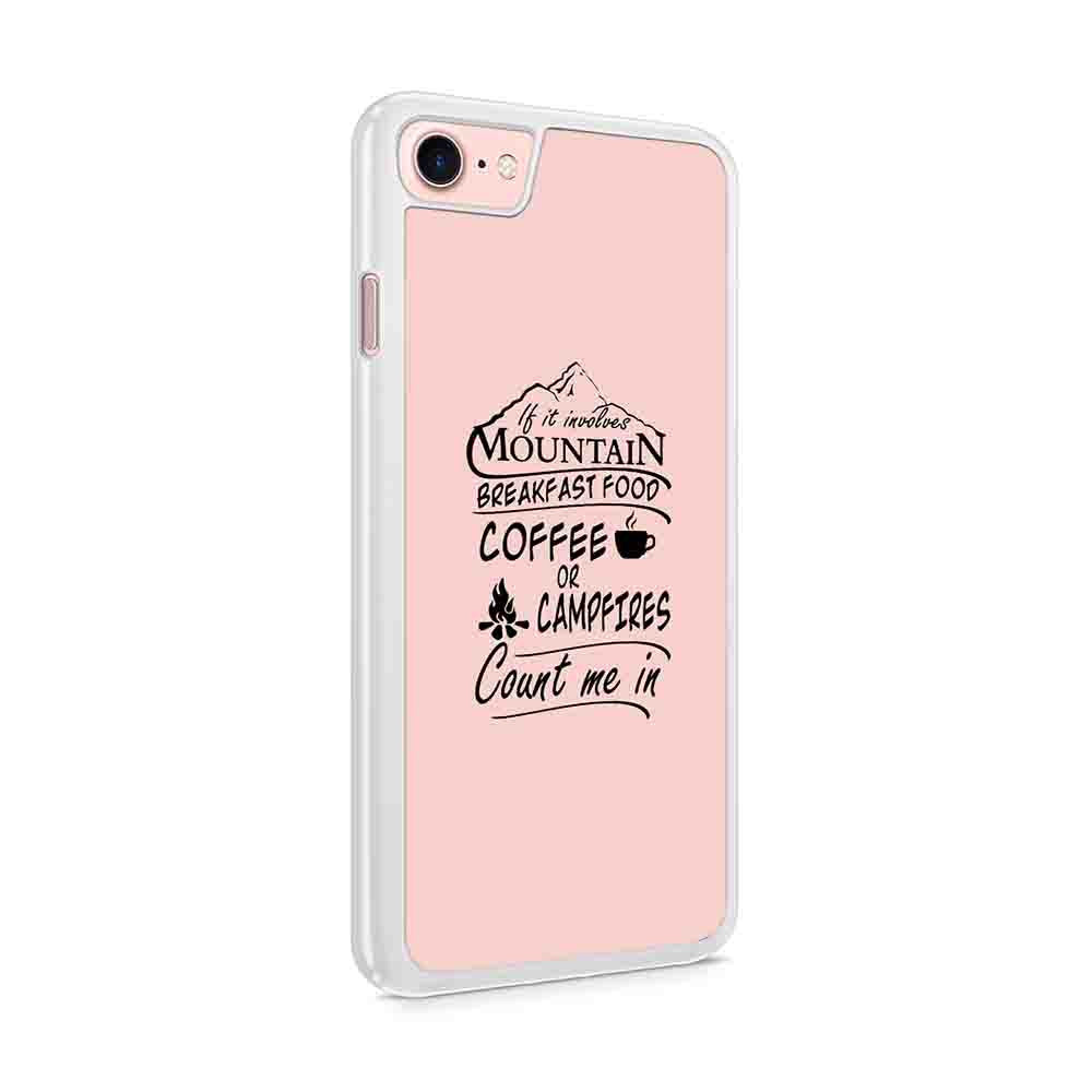 Dad Christmas Gift Mountains Are Calling Mountains Hiking Coffee Forest Animal Coffee Camping Hiking Fishing 2 Iphone 7 / 6 / 5 Case