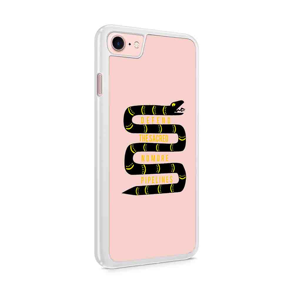 Defend The Sacred No More Pipelines Water Is Life Water Protectors Native American Pipeline Snakes Totem Oil Sacred Stone Texas Iphone 7 / 6 / 5 Case