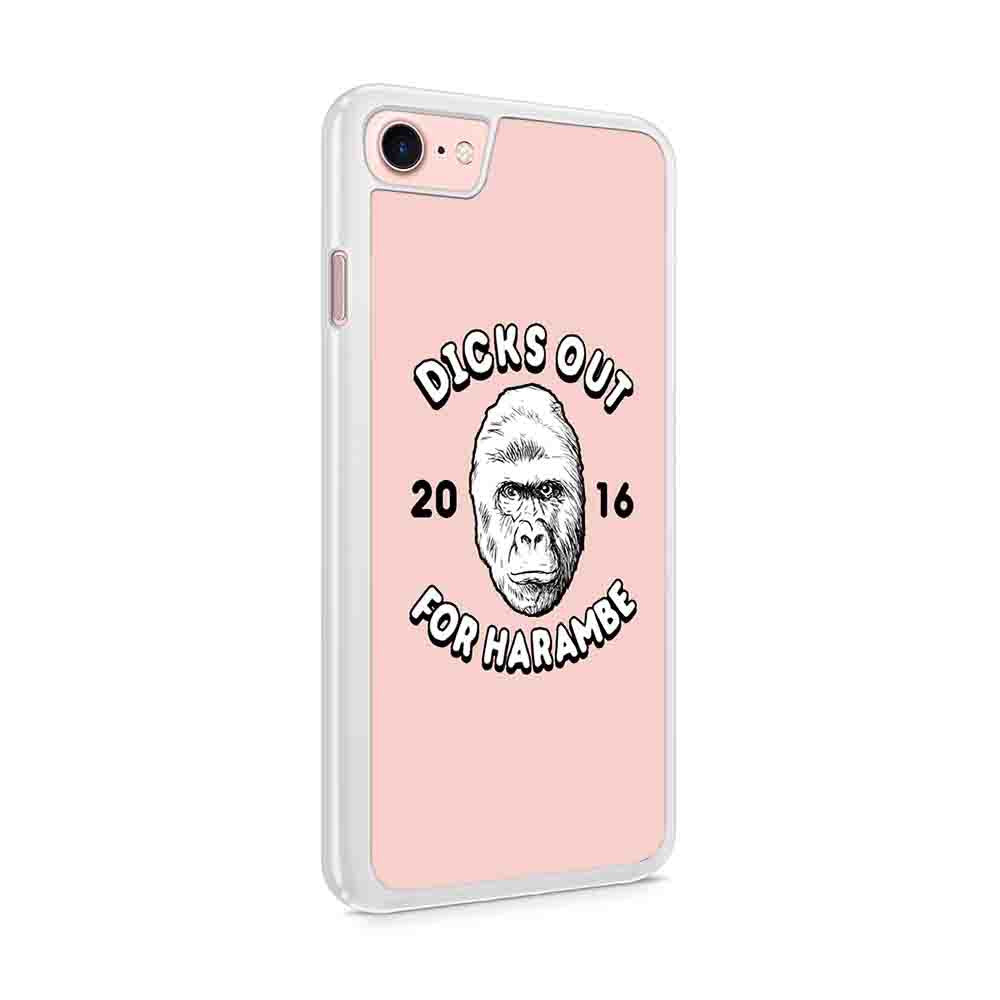 Dicks Out For Harambe 2016 Funny Rip Harambe Rest In Peace Dank Memes Gorilla Iphone 7 / 6 / 5 Case