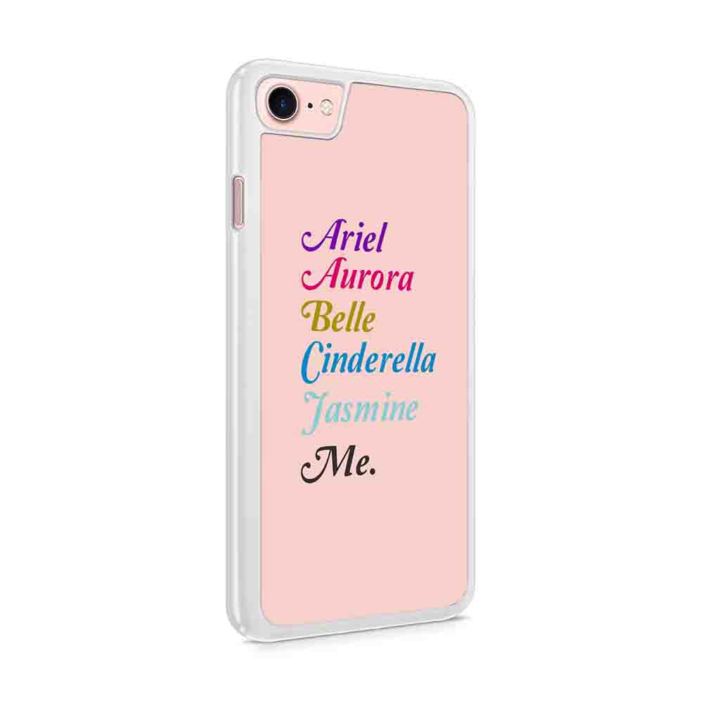 Disney Princess Ariel Aurora Belle Sleeping Beauty Cinderella Beauty And The Beast Snow White Iphone 7 / 6 / 5 Case