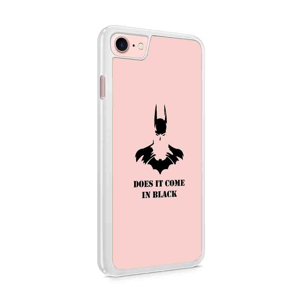 Does It Come In Black Batman Superhero Christmas Holiday Present Iphone 7 / 6 / 5 Case