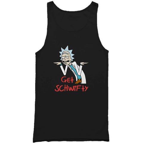 Rick And Morty Funny Get Schwifty Inspired Man's Tank Top