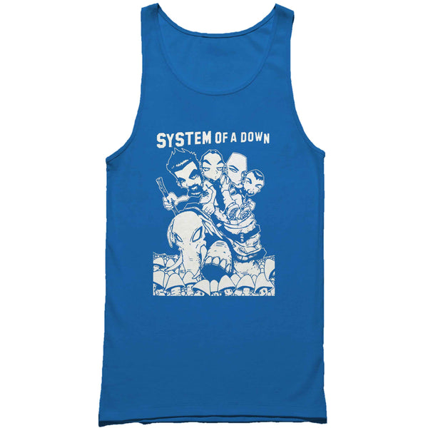 System Of A Down Rock Band Man's Tank Top