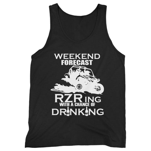 Weekend Forecast Riding With A Chance Of Drinking Man's Tank Top