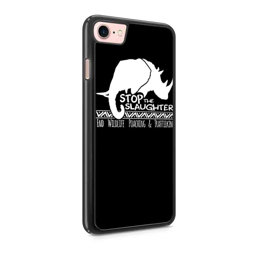 Animal Rights Anti Poaching Rhino And Elephant Iphone 7 / 7 Plus / 6 / 6s / 6 Plus / 6S Plus / 5 / 5S / 5C Case