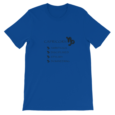 Capricorn Bella + Canvas Unisex short sleeve t-shirt