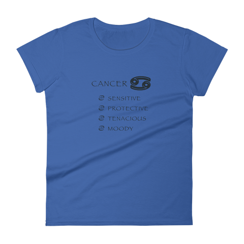 Cancer Women's Anvil Ringspun short sleeve t-shirt