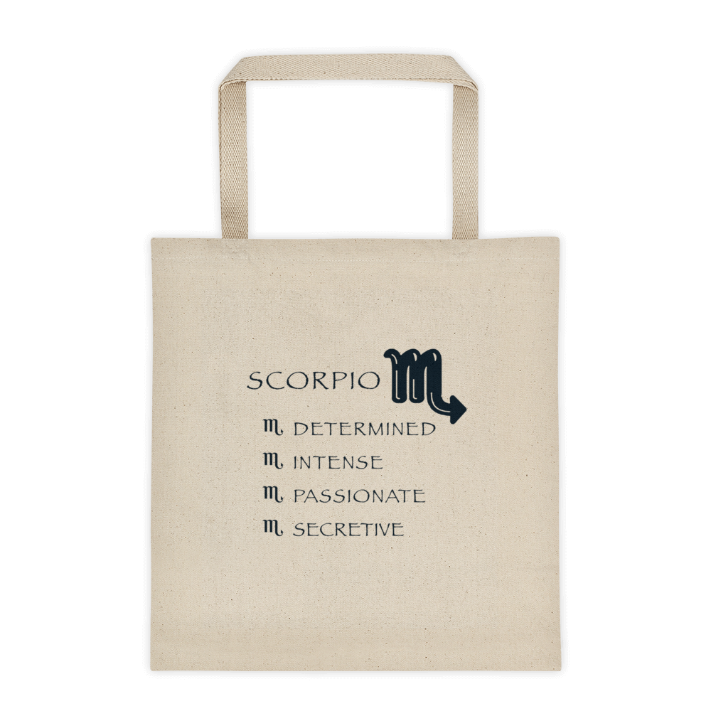 Scorpio Reinforced Bottom 100% Cotton Tote bag