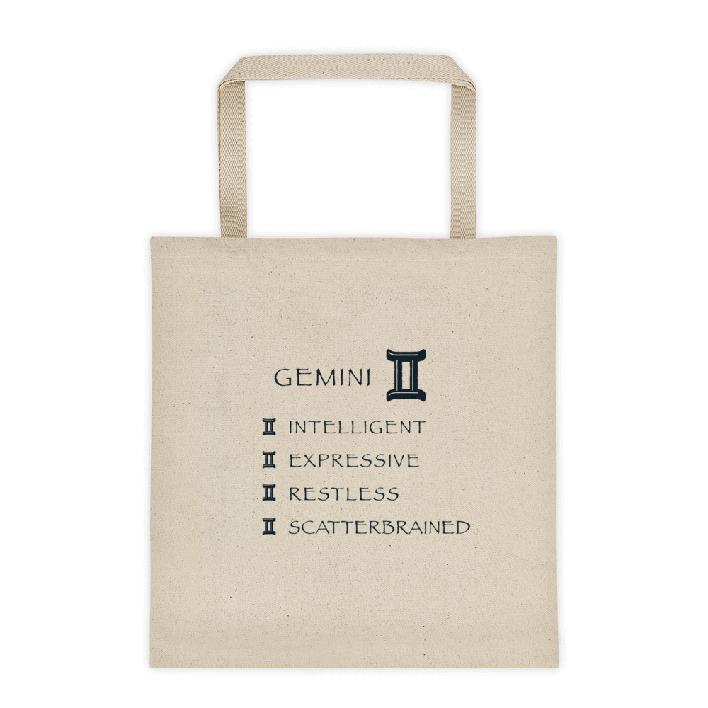 Gemini Reinforced Bottom 100% Cotton Tote bag