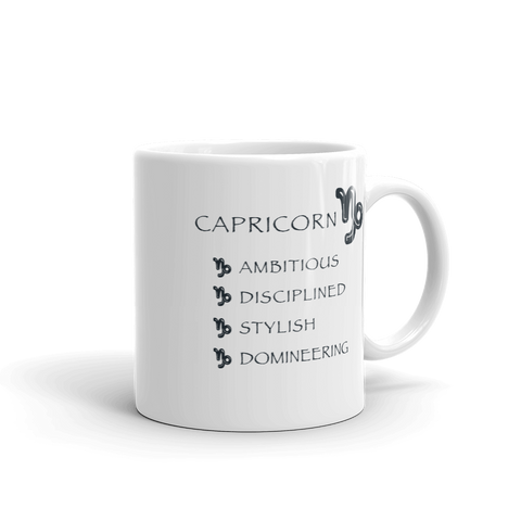 Capricorn Keywords Mug