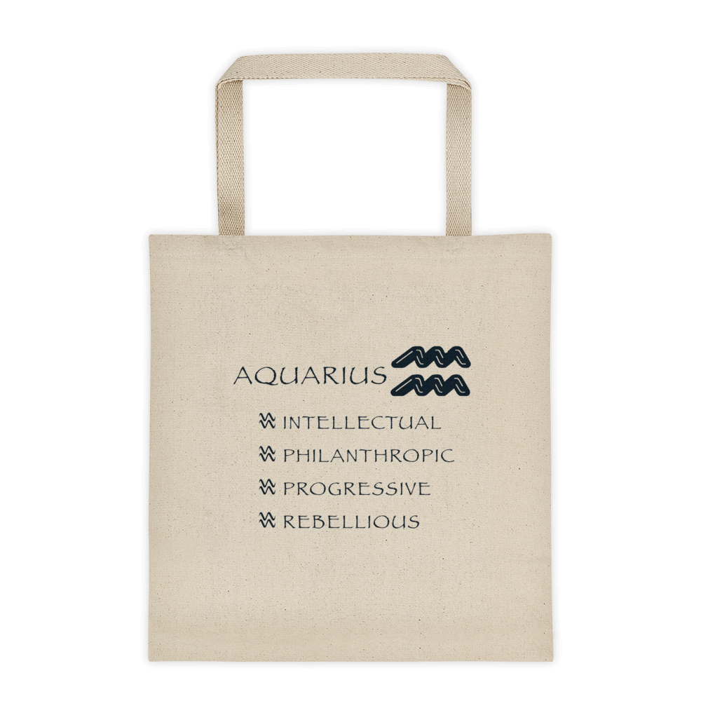 Aquarius Reinforced Bottom 100% Cotton Tote bag