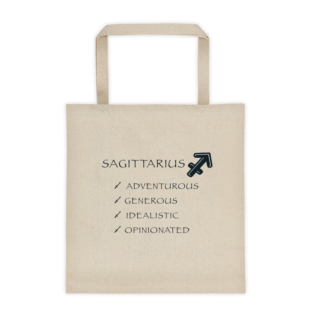 Sagittarius Reinforced Bottom 100% Cotton Tote bag