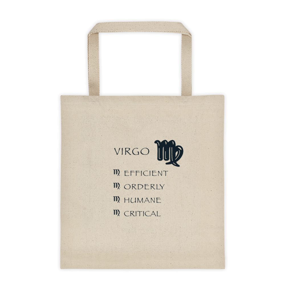 Virgo Reinforced Bottom  100% Cotton Tote bag