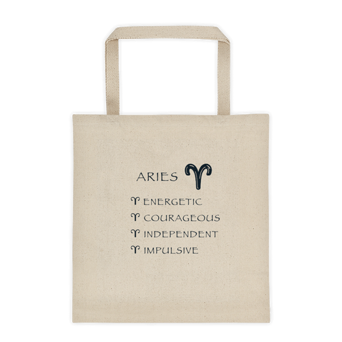 Aries Reinforced Bottom 100% Cotton Tote bag