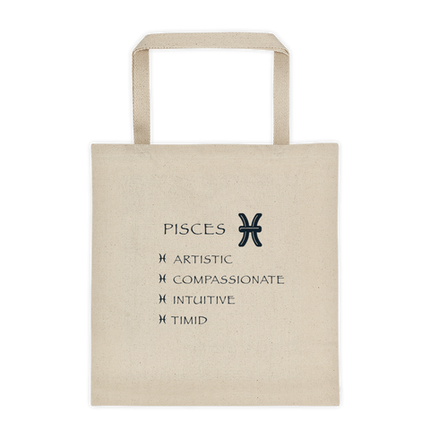 Pisces Reinforced Bottom 100% Cotton Tote bag
