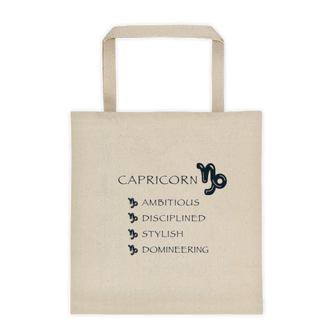 Capricorn Reinforced Bottom 100% Cotton Tote bag
