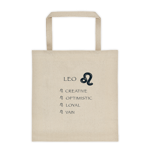 Leo Reinforced Bottom 100% Cotton Tote bag