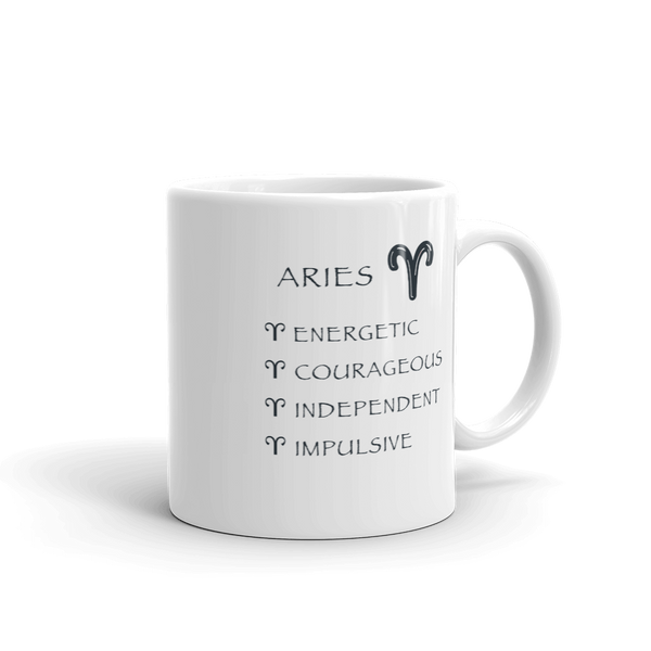 Aries Keywords Mug