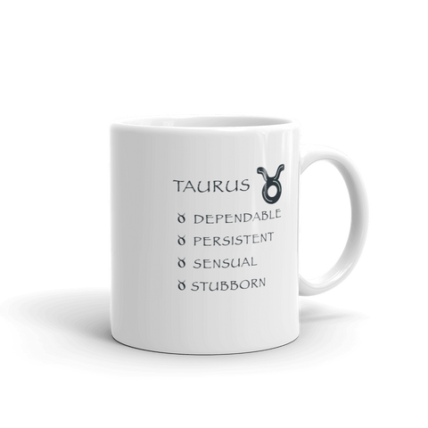 Taurus Keywords Mug